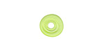 A Beaded Gift Grass Green Mini Disc 12-14mm
