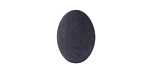 Matte Black Resin Oval Cabochon 13x18mm