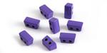 Purple Enamel 2-Hole Tile Thin Rectangle Bead 4x8mm