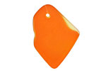 Tangerine Recycled Glass Freeform Drop 16-23x25-30mm