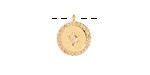Satin Gold Finish Pave CZ Starburst Coin Focal 12x14mm