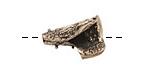 Saki White Bronze Small Textured Cone 20x15mm