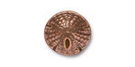 TierraCast Antique Copper (plated) Sand Dollar Button 16mm