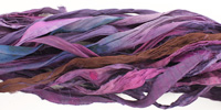 Deep Purple 100% Silk Sari Ribbon