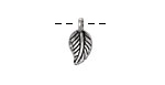 Antique Silver (Plated) Beech Leaf Charm 7x15mm