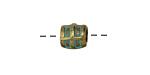 Zola Elements Patina Green Brass (plated) Window Barrel 9x9mm