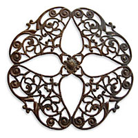 Vintaj Natural Brass Full Openwork Flower Filigree 61mm