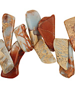Impression Jasper Flat Freeform Drop 7-20x16-32mm