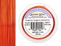 Artistic Wire Silver Plated Tangerine 24 gauge, 15 yards