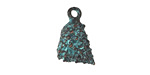 Greek Copper (plated) Patina Textured Conch Shell Charm 12x17mm