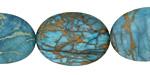 Turquoise Impression Jasper Flat Oval 25x18mm