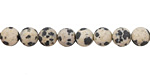 Dalmatian Jasper (matte) Round 6mm