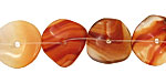 Carnelian (natural) Wavy Button 3x14-16mm