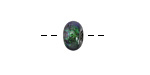 Grace Lampwork Emerald Dichroic Rondelle 6x9mm
