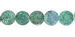 Emerald AB Druzy Coin 10mm
