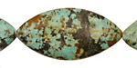 African Turquoise Horse Eye 40x20mm
