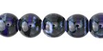 Night Sky Banded Porcelain Tumbled Rondelle 9x10mm