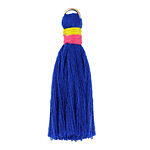 Royal Blue w/ Pink and Yellow Binding & Jump Ring Thread Tassel 41mm