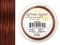 Artistic Wire Brown 22 gauge, 15 yards