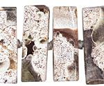 Orbicular Jasper Center-Drilled Rectangle 9-11x29-30mm