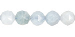 Aquamarine Diamond Cut Faceted Round 10mm