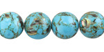 Turquoise Mosaic Shell Round 12-12.5mm