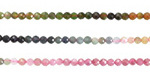 Tourmaline (A - ombre) Faceted Round 2.5mm