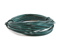 Natural Emerald Round Leather Cord 1.5mm, 16 feet