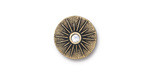 TierraCast Antique Gold (plated) Starburst w/ Crystal Button 15mm