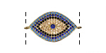 Sky Mix Pave CZ Gold (plated) Eye Focal Link 28x15mm