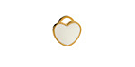 White Enamel Gold (plated) Stainless Steel Heart Charm 11x12mm