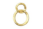 Vintaj 10K Gold (plated) Linked Hammered Rings 17x24mm