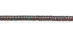 Rainbow Hematite (plated) Rondelle 4mm