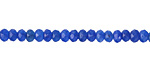 Sky Blue Agate Faceted Rondelle 2x4mm