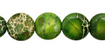 Green Impression Jasper Puff Coin 12mm