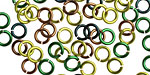 Camo Mix Enameled Copper Round Jump Ring 5mm, 18 gauge