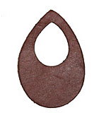 Lillypilly Burgundy Leather Small Open Teardrop 34x50mm