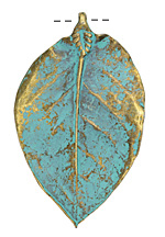 Zola Elements Patina Green Brass (plated) Magnolia Leaf Pendant 47x77mm