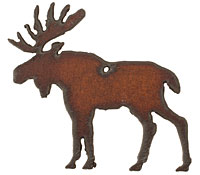 The Lipstick Ranch Rusted Iron Moose Pendant 60x55mm