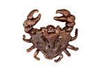 Green Girl Shibuichi Articulated Crab Pendant 27mm