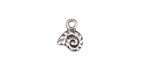 Greek Pewter Tiny Nautilus Charm 9x11mm