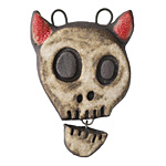 Gaea Devil Talking Skull Pendant 33x45mm