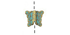 Patina Green Brass Butterfly 10x12mm