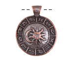 Greek Bronze (plated) Zodiac Pendant 27x34mm