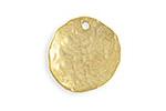 Vintaj 10K Gold (plated) Organic Circle 22mm