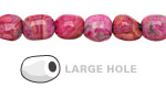 Ruby Crazy Lace Agate Nugget (Large Hole) 10x8mm