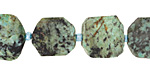 African Turquoise Rough Cut Freeform Slice 14-17x13-17mm