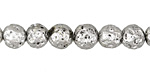 Metallic Pewter (plated) Lava Rock Round 8mm