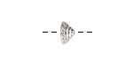 Nunn Design Sterling Silver (plated) Sea Spire Bead Cap 6x11mm