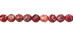 Ruby Impression Jasper Faceted Round 6mm